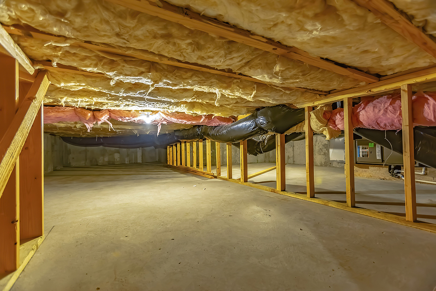 under of the basement